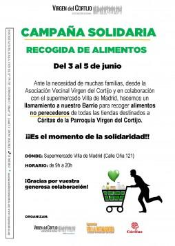 Cartel recogida alimentos VCortijo Junio2020