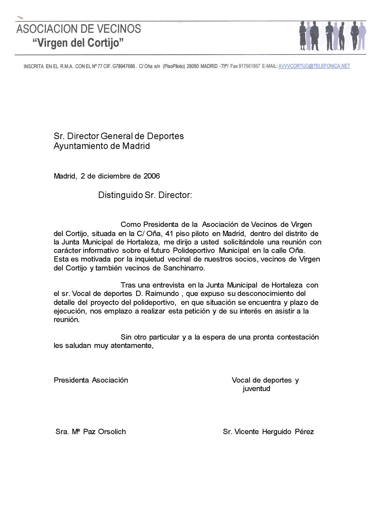 carta director g deportes ayto madrid
